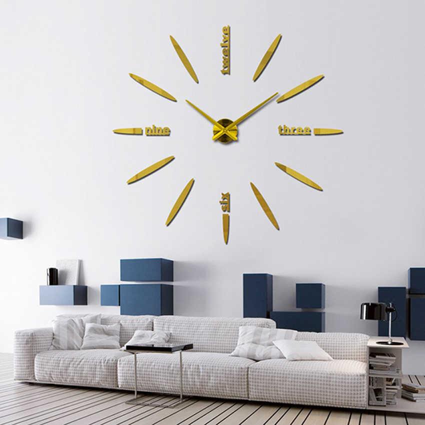 Muhsein 100%肯定的なフィードバック壁時計アクリル金属ミラー90 × 90センチパーソナライズデジタル時計時計ホットdiyの送料無料