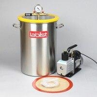 8.4 Gallon (31.8Liter) Chamber + 2.5CFM 220V Vacuum Pump Kit,300mm x 450mm Stainless Steel Vacuum Degassing Chamber