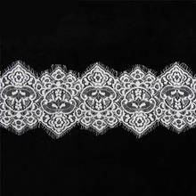 3Meters Embroidered Black White Eyelash Lace Ribbon Trim 14cm/wide Wedding Dress Clothing Accessories Decoration Material