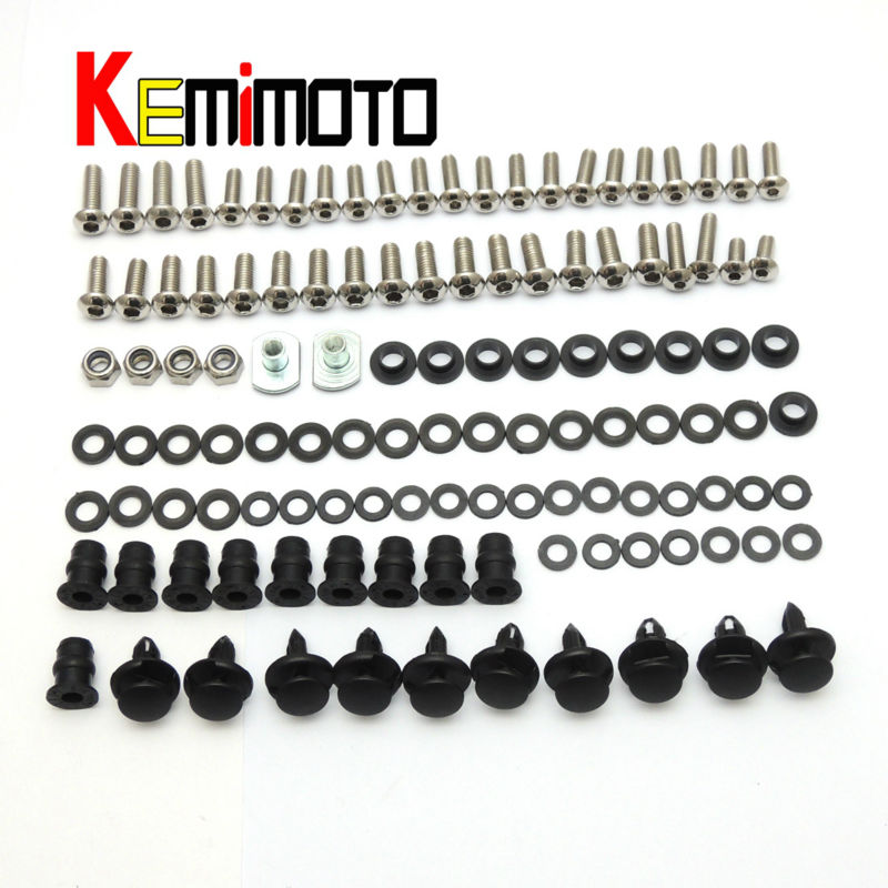 2008 EX Ninja 250R Motorcycle Complete Fairing Bolts  For KAWASAKI  Ninja 250R 2008 2009 2010 2011 2012 Parts One Set New