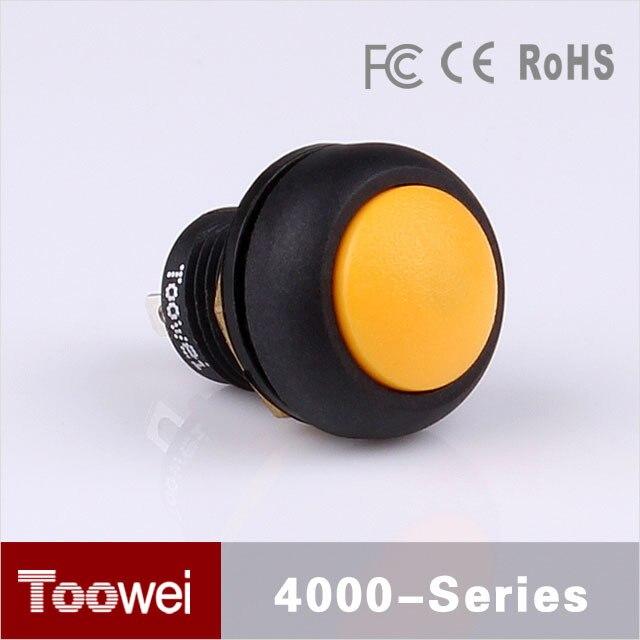 Toowei mini interrupteur blanc à bouton poussoir   mini interrupteur à bouton poussoir étanche 12mm pour système de commande électrique