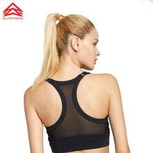 Syprem seamless sports bra Womens Removable padding Sports Bras Mesh Back Medium Support Workout Running Yoga Bra,18FT1029