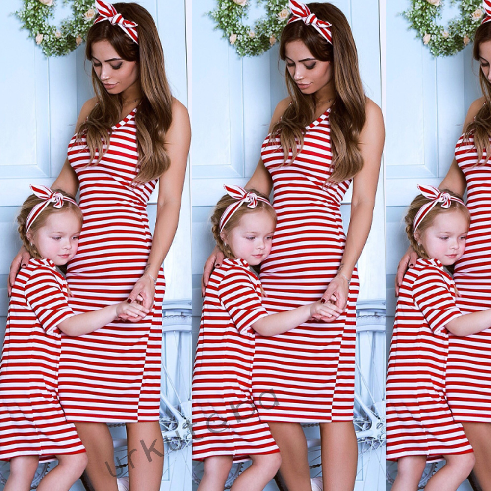Vogue Mom Daughter Clothes Household Matching Garments Woemn Child Women Informal Summer time Household Look Woman and Mom Costume Outfits Matching Household Outfits, Low cost Matching Household Outfits, Vogue...