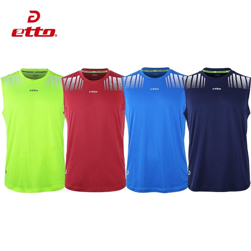 Etto Quality Sleeveless Leisure Sports Jersey Soccer Basketball Volleyball Team Training Uniform Men Quick Dry Sport Tops HUC038