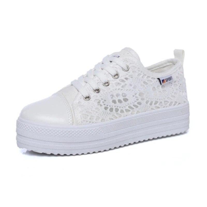 Dentelle 1 De Toile Chaussures 2018 Plat Chaussures Mode Nouveau Respirant 2 Blanc qIBIxPwYaW