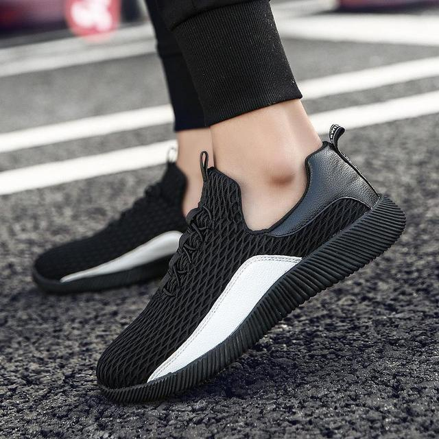 02300436086d 2018 new spring man casual shoes breathable flat heel comfortable fashion wide  sneaker for man