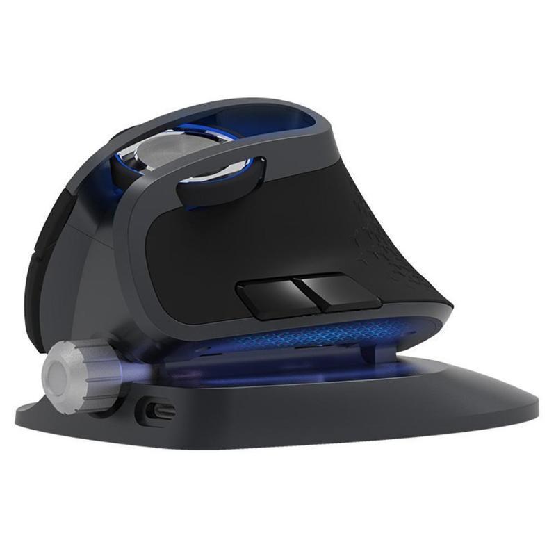 DELUX M618X souris sans fil + Bluetooth souris verticale ergonomique technologie de suivi optique 20 degrés réglable pour ordinateur