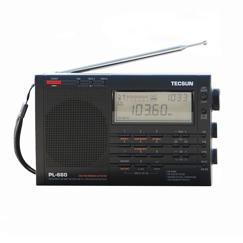 PL-660 Radio High Performance Full Band Portable Digital Tuning Stereo Radio FM AM Radio Multiband Dual Conversion SW SSB Tecsun panda panda 6130 full band digital stereo radio signal stabilization русский вступительный экзамен 46 прослушивание черный