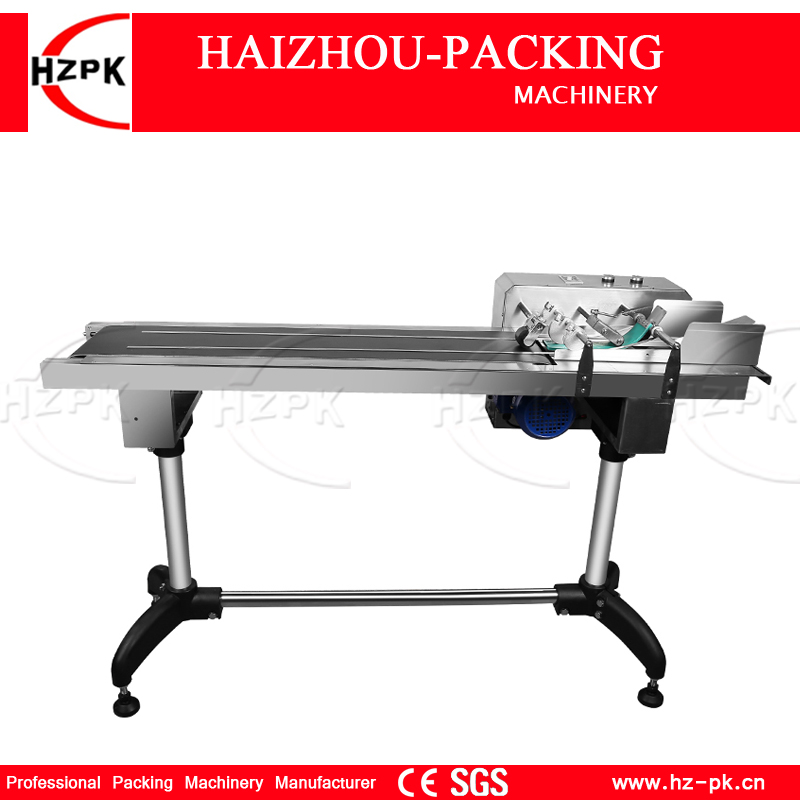 HZPK Paper Bag Paging Machine Feeder Paper Used Work With inkjet Date Printer Label Or Bag Numbers Printing Machine For 65-400mm applicatori di etichette manuali