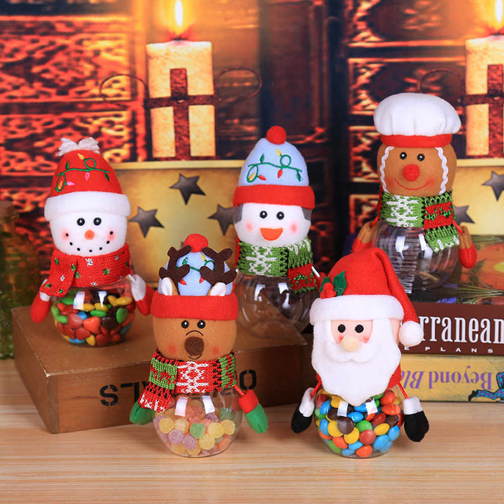 ISHOWTIENDA 2019  Child Kids Christmas Candy Jar Storage Bottle Santa Bag Sweet Christmas Box Gif Hot sale
