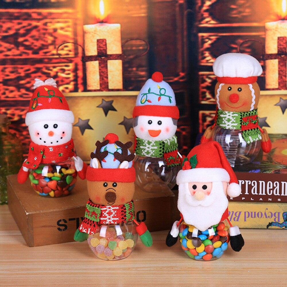 Child Kids Christmas Candy Jar Storage Bottle Santa Bag Sweet