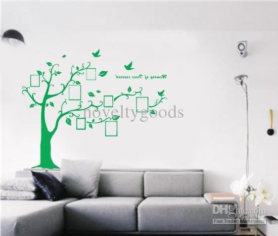 Green Decorative Wall Sticker Art Wall Sticker Photo Tree