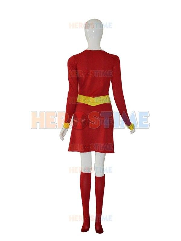 Supergirl Disfraz Personalizado Rojo y Amarillo Mujer Spandex - Disfraces - foto 3