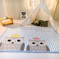 Мультфильм животных Совы Дизайн коврик мягкий полиэстер ковер для гостиной/салон/Прихожая прямоугольный детской игровой коврик