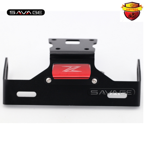 For KAWASAKI Z125 2015-2016 Red Motorcycle Tail Tidy Fender Eliminator Registration License Plate Holder Bracket LED Light motorcycle tail tidy fender eliminator registration license plate holder bracket led light for kawasaki er6f er 6f 2012 2014 13