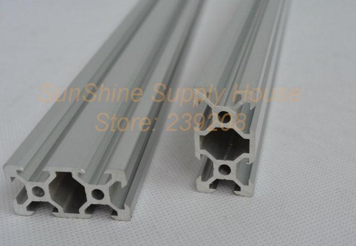 2040 Black Aluminum Profile Extrusion For Cnc Laser Cutter