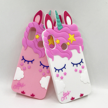 3D Cartoon Pink Unicorn Cat Soft Silicone Case For Xiaomi Mi A2 Lite Cute Horse Rubber Bunny Cover Redmi 6A 6 Pro Note 4 4X