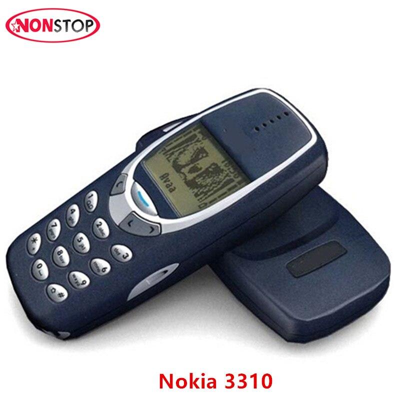 Original Unlocked Nokia 3310 GSM nokia 3310 Mobile phone Refurbished Good Nokia Cellphone Free shipping bic 0.5 mm mechanical pencil