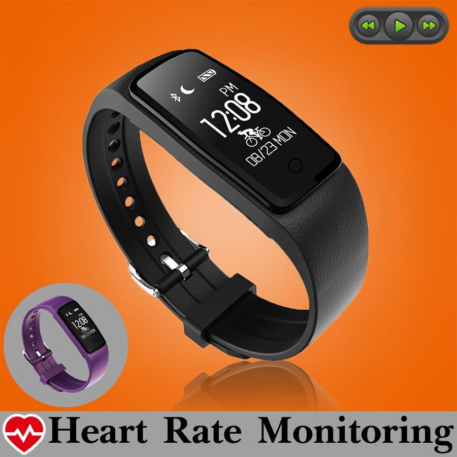 Waterproof Music Control Smart Wristband Band Heart Rate Monitor Pedometer Smartband Fitness Bracelet Tracker PK fitbits mi band