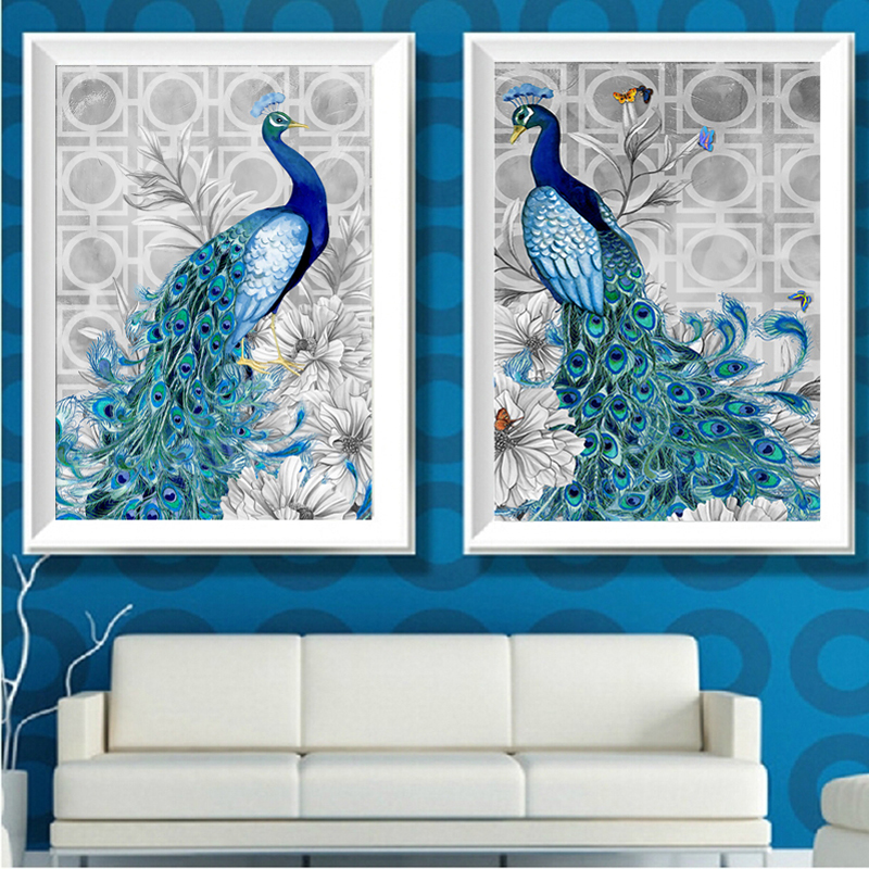 Online get cheap peacock kit alibaba group - Home decoration wholesale paint ...