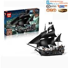 LEPIN 16006 804 Stks Piraten Van De Caribbean De Zwarte Parel Schip Model Building Kit Minifigures Blokken Bricks Speelgoed 4184