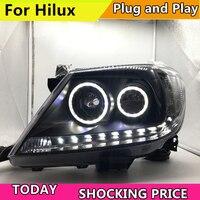 Автомобиль Revo головы света для Toyota Hilux фара 2008 2014 Vigo светодиодный фары с ксеноновые линзы и DRL спереди лампа
