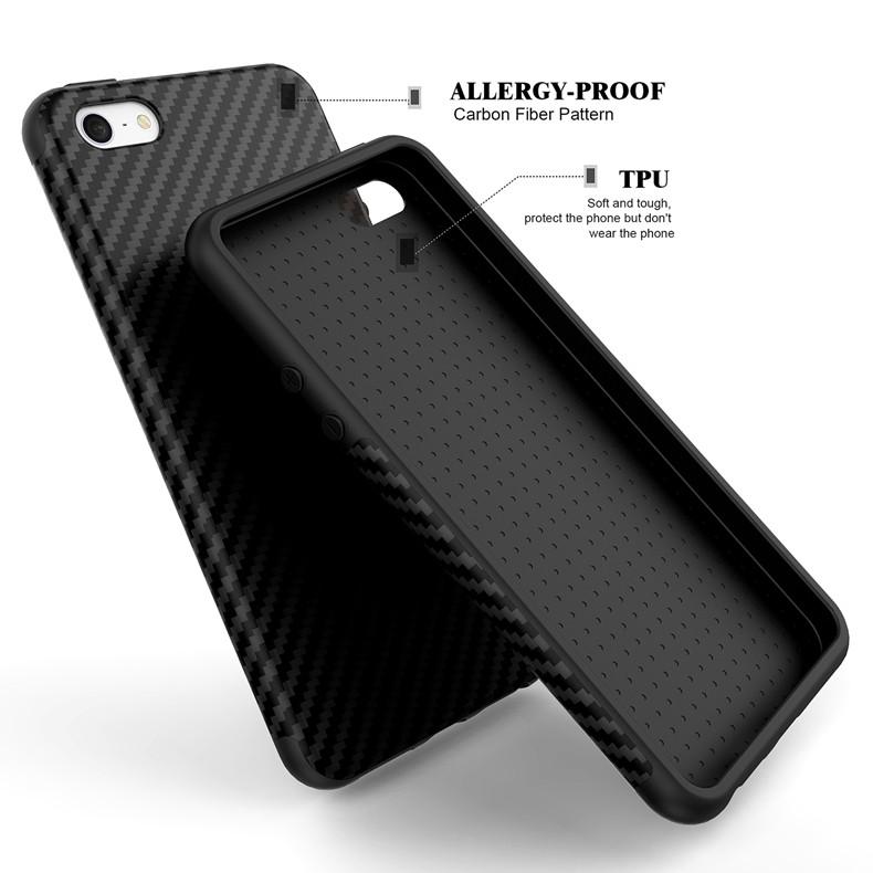 Luksusowe Elegent Wysokiej Jakości Włókna Węglowego Miękki Futerał Dla iPhone 5 5S SE Skórzana Skóry Tekstury Opon 3D Obrońca Pokrywa Dla iPhone SE 2