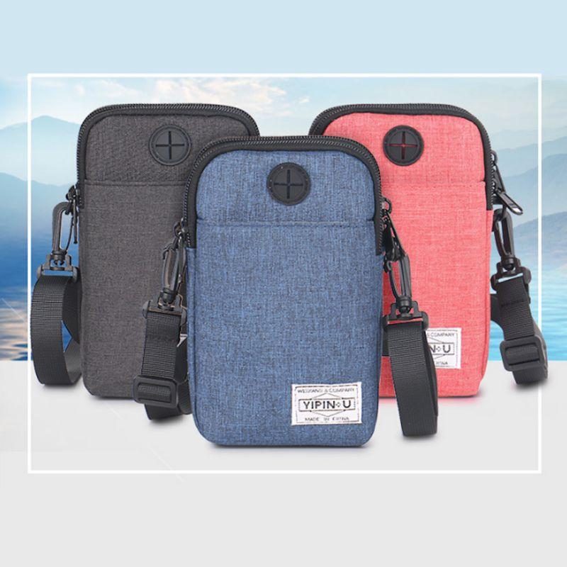 Multifunction Credit Package Professional fitness  Bag Men Women  Storage Clutch Money Bag Travel  Unisex Running   Pack for Mob
