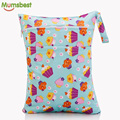 [Mumsbest] 2016 New Wet Bag Washable Reusable Cloth diaper Nappies Bags Waterproof Swim Sport Travel Carry bag Big Size:40X30cm