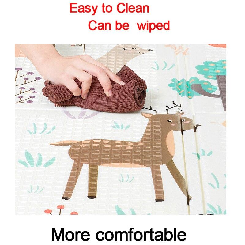 Tapis de jeu bébé XPE Puzzle tapis pour enfants épaissi tapete Infante bébé chambre ramper Pad tapis pliant tapis bébé - 5