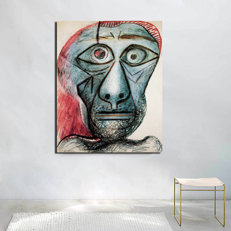 Self Portrait Facing Death Pablo Picasso Canvas Painting Living Room Home Decoration Modern Wall Art Oil Painting Poster Picture in Painting Calligraphy from Home Garden