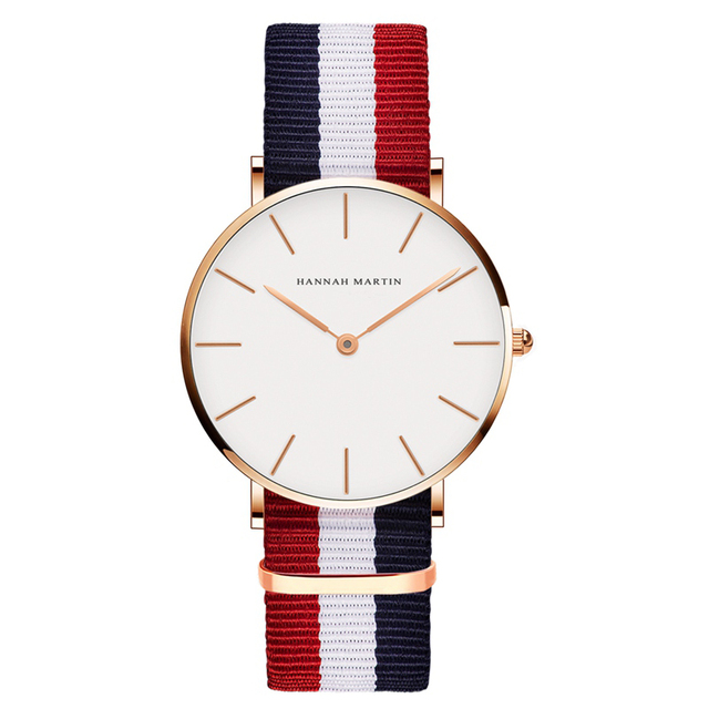 Drop Shipping Watches For Men Women Ultra Slim Quartz Watch with Simple Nylon Le
