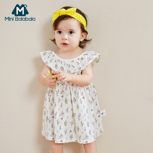 Image 3 - Платье мини balabala2019 для маленьких девочек, клетчатое платье на бретельках, хлопковая детская модная мягкая одежда