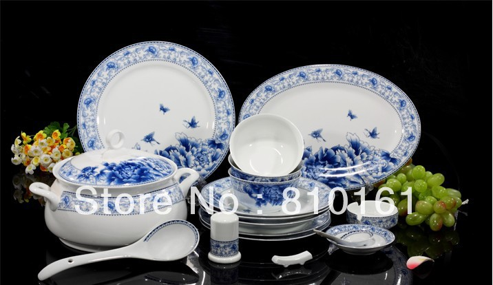 Ordinaire Bone China 56PCS! Ceramic Porcelain Tableware,dinnerware Set,pottery Bowls, Dishes,plates,kitchen Dinnerware+free Shipping In Dinnerware Sets From Home  ...