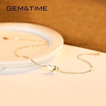 Cute Heart 14K Gold Bracelets & Charm 4