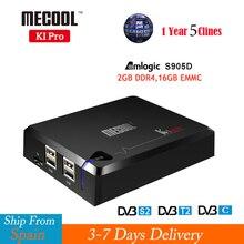 KI PRO DVB-T2 DVB-S2 DVB-C Android 7.1 Set TV Box Amlogic S905D Dual WIFI 2GB/16GB Satellite Receiver+1 Year Europe Clines