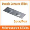 5 pièces Réutilisable Éducatif De Laboratoire Double Concave Microscope Blanc Lames De Verre pour L'école de Médecine 25.4x76.2mm 1