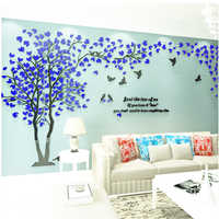 3D arbre Stickers muraux acrylique Sticker Mural décor à la Maison bricolage décoration Maison grand mur décorations salon Mural fonds d'écran