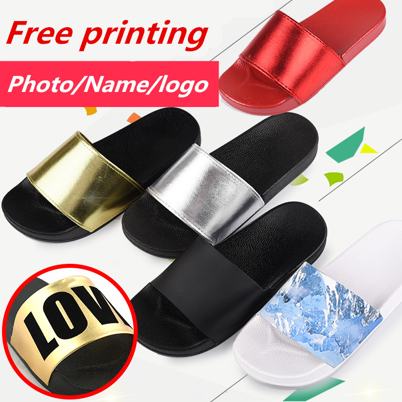 SHANGPREE women Slippers Sandals Summer Home Slippers Indoor Outdoor DIY Slippers Free Custom print Photo/Name/Logo/Couple shoes mnixuan women slippers sandals summer