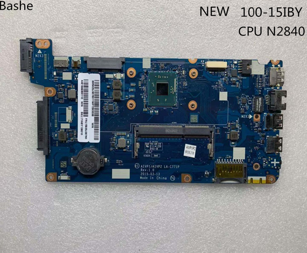 For Lenovo laptop motherboard 100 15iby LA C771p CPU n2840 teste completo free shipping