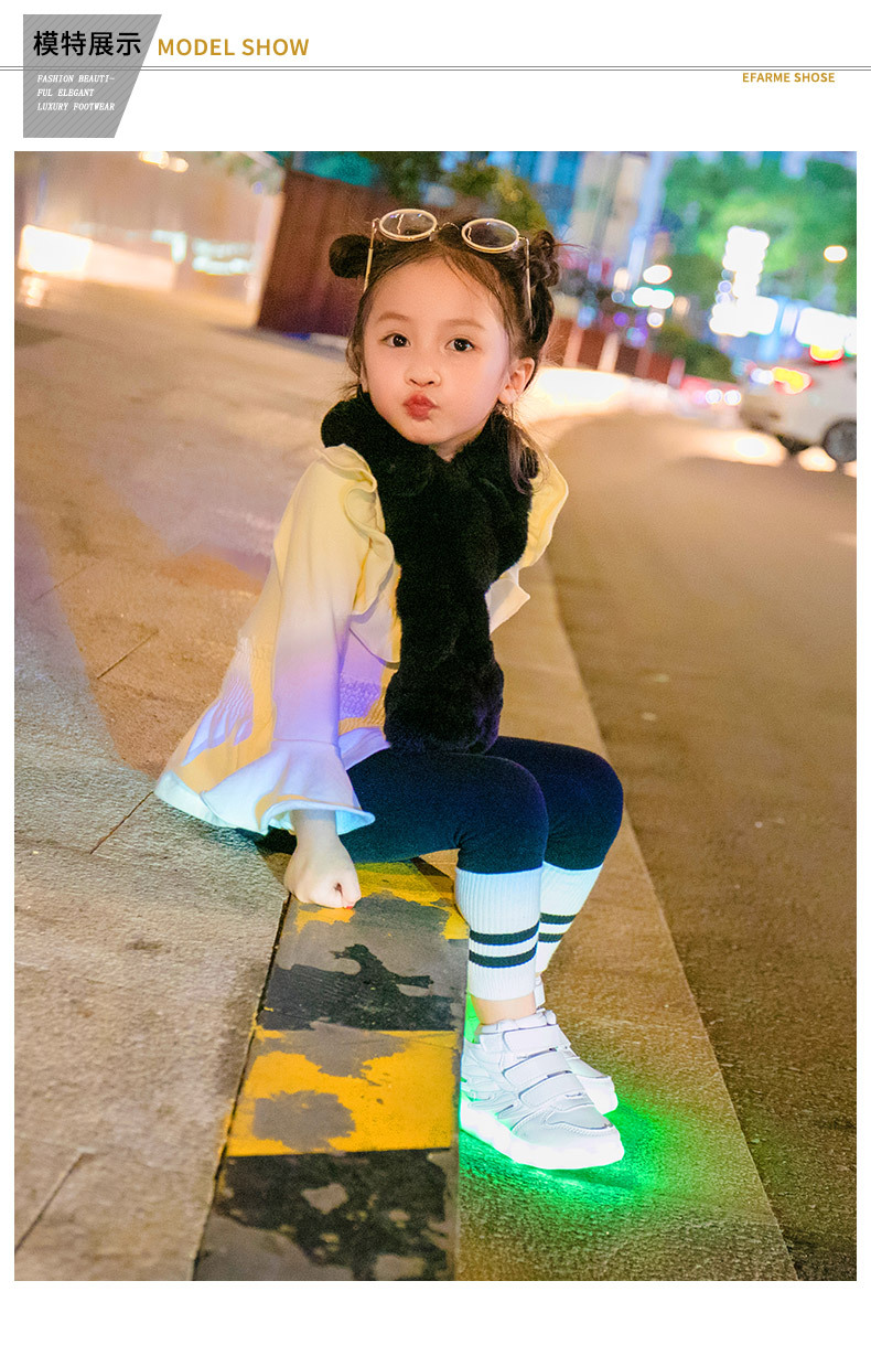 HTB1Klh6eeuSBuNjSsplq6ze8pXa0 - UncleJerry Kids Light up Shoes with wing Children Led Shoes Boys Girls Glowing Luminous Sneakers USB Charging Boy Fashion Shoes