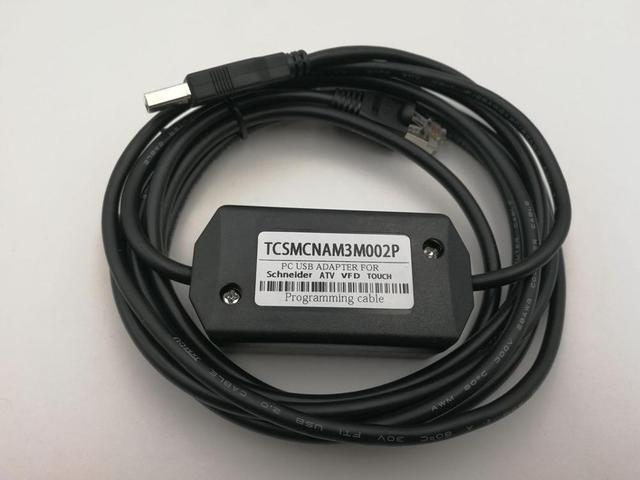 Compatible TCSMCNAM3M002P TV Inverter / LXM Servo Debug Programming Cable for ATV12 ATV312 ATV32 ATV61 ATV71 series
