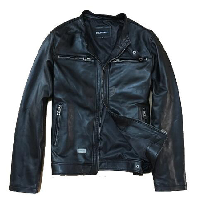 David Beckham Genuine Leather Jacket Man Fashion Slim Real Sheepskin Black Short Leather Suede Motorcycle Jaquetas De Couro