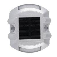 Alta Resistencia de Choque No Hay Rayos UV Ahorro de Energía Al Aire Libre A Prueba de agua 6 LED de Energía Solar Camino Stud Carretera Jardín Muelle Patio Luces Caliente