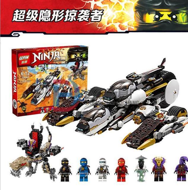 Лепин 06038 Совместимость Лепин Ninjagoes Ультра Стелс Raider 70595 Строительные Кирпичи Ninja Игрушки Для Детей