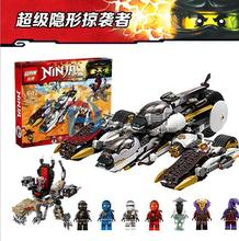 Lepin 06038 Compatible Legoe Ninjagoes Minifigures Ultra Stealth Raider 70595 Building Bricks Ninja Figure Toys For Children