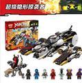 Lepin 06038 Compatible Lepin Ninjagoes  Ultra Stealth Raider 70595 Building Bricks Ninja Toys For Children