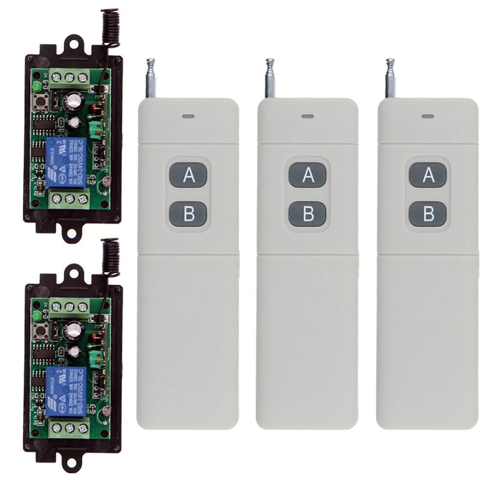 цена на 3000m DC 9V 12V 24V 1 CH 1CH RF Wireless Remote Control Switch System,2CH Transmitter + Receiver ,Jog / Toggle