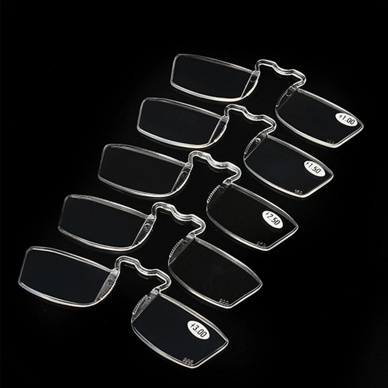 6bff9159d9c1 Mayitr 1pc Mini Portable Clip Reading Glasses Professional Nose Resting  Pocket Reading Glasses Strength 1.0/