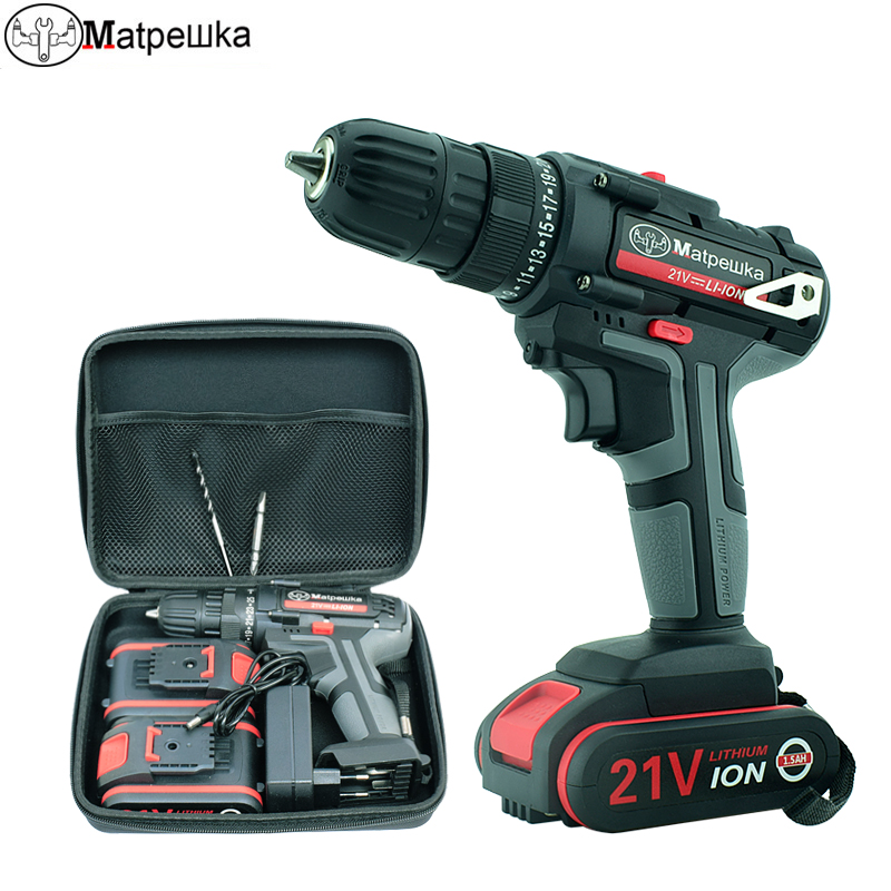 High-Quality Electric Screwdriver Lithium Battery 21V Household Cordless Electric Drill Handheld Electric Screwdriver Power Tool